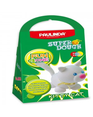 Super Dough Non Toxic - Fun 4 one, Kitty Cat, 42 g. Accessories are in the box, for 3+ years old.