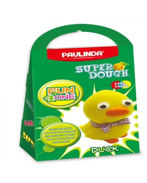 Super Dough Non Toxic - Fun 4 one, Duck, 42 g. Accessories are in the box, for 3+ years old.