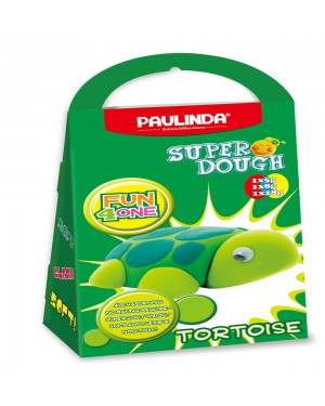 Super Dough Non Toxic - Fun 4 one, Tortoise, 42 g. Accessories are in the box, for 3+ years old.